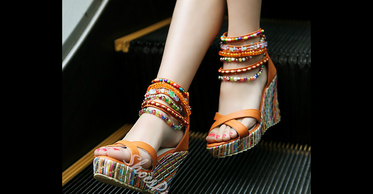 9a56e8d144b9 Shoespie Ankle Beading Wrap Wedge Sandals - You Posh Girl